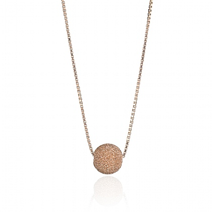Rose Gold-plated Disco Diva Necklace