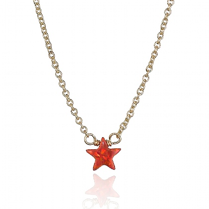 Red Opalite Star Necklace