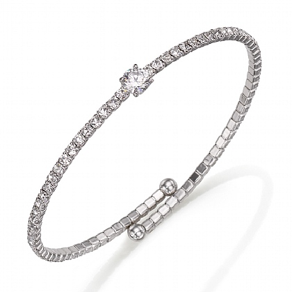 Central Crystal Bangle