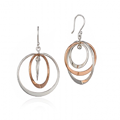 Orbit Trio Drop Earrings