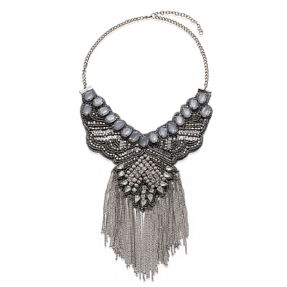 Warrior Fringed Necklace