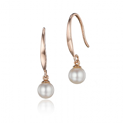 Rose Gold-plated Pearl Dew Drop Earring