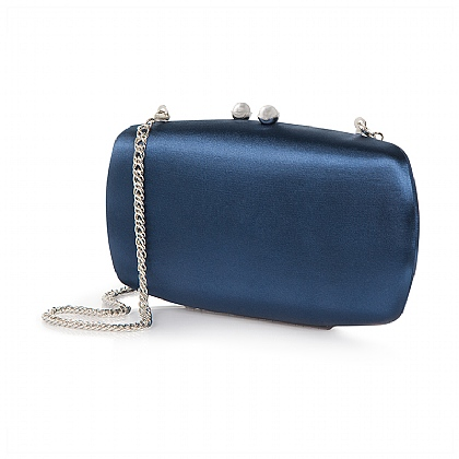 Midnight Satin Clutch Bag