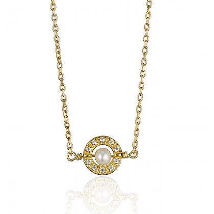 Gold-plated Pearl Centre Pendant