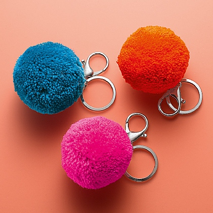 Wild & Woolly Pompom Keyrings