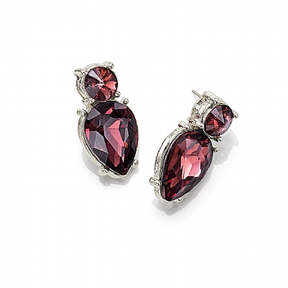 Florentine Flame Crystal Stud Earrings