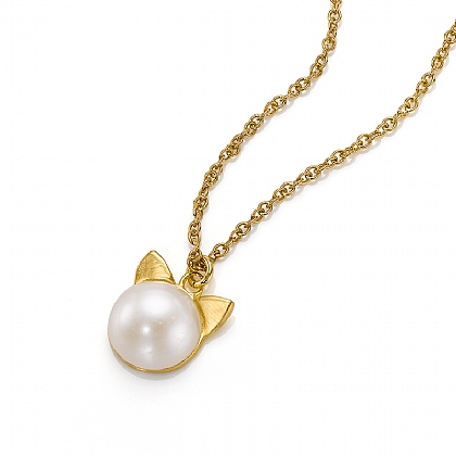 Lucky Cat Pearl Pendant