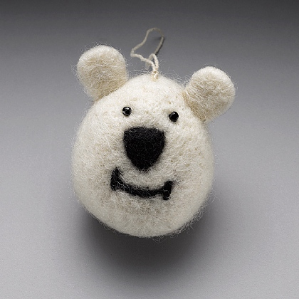Felt Polar Bear Decoration