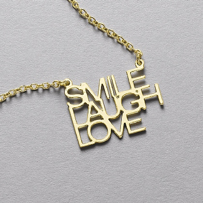 Smile, Laugh, Love Pendant