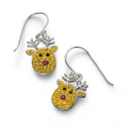 Sparkling Rudolf Drop Earrings