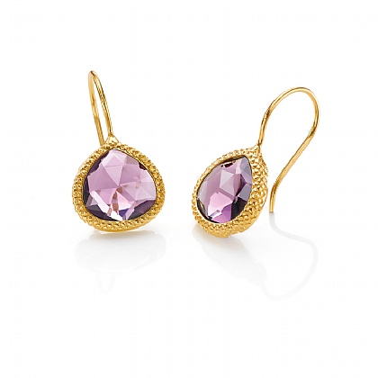 Amethyst Quartz Earrings