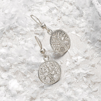 Silver Tree of Life Silver Earrings