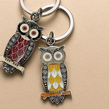 Autumn Night Owl Keyring