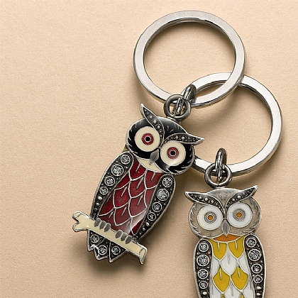 Winter Night Owl Keyring