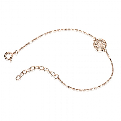 Cirque Clear Crystal Rose Gold Tone Bracelet