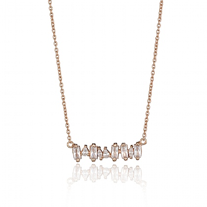 Rose Linings Crystal Necklace