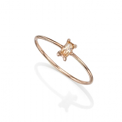 Longitude Champagne Rose Ring