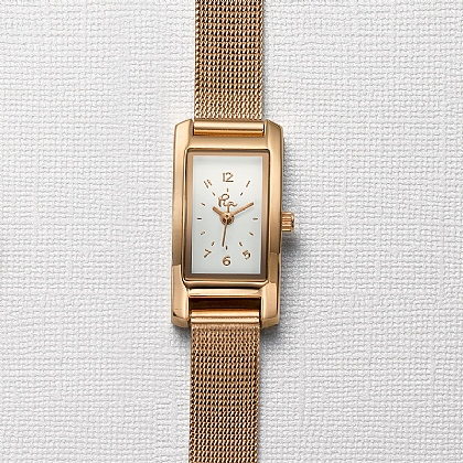Time Is Right Rose Mesh Watch