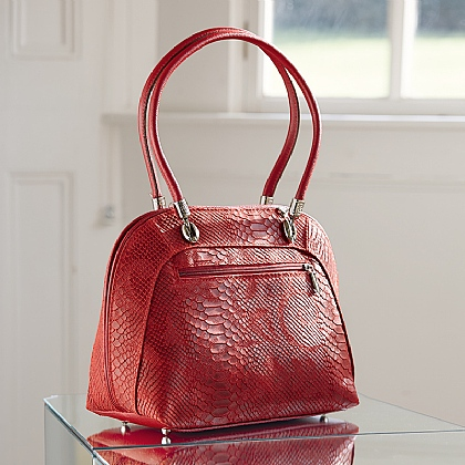 Cranberry Leather Bag
