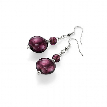 Viola Murano Glass Earrings