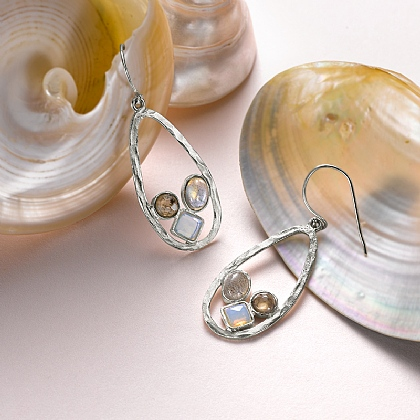 Dewdrops at Dusk Earrings