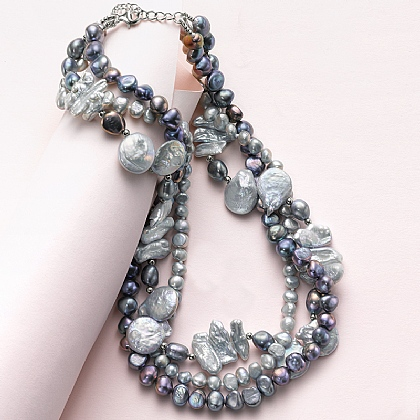 Twilight Twist Pearl Necklace