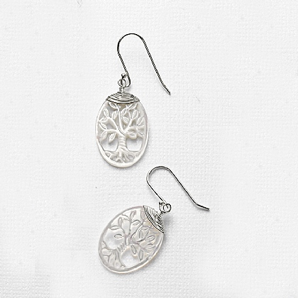 Mother-of-pearl Tree Earrings