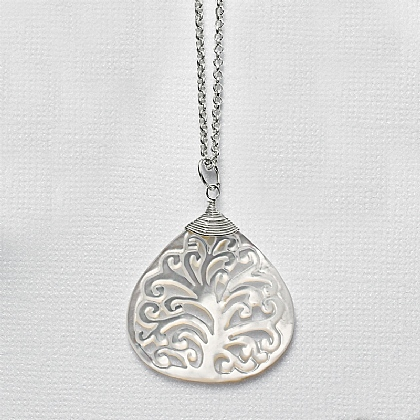 Mother-of-pearl Tree Pendant
