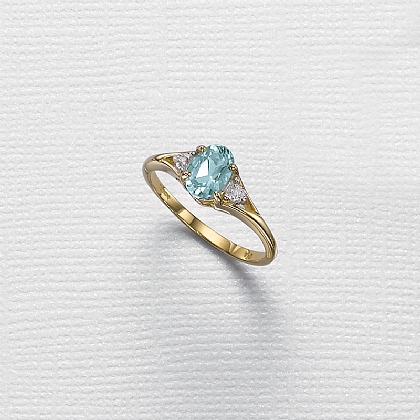Devotion Diamond & Topaz Ring