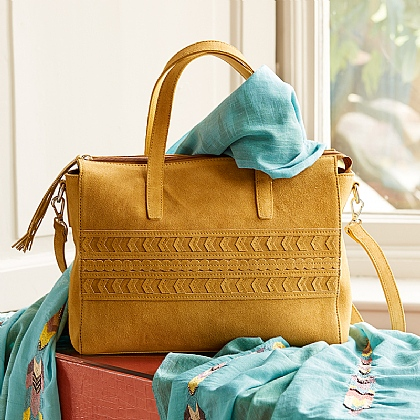 Golden Molasses Suede bag