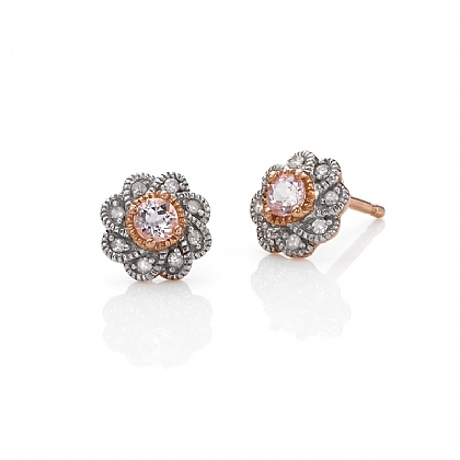 True Promise Morganite Stud Earrings