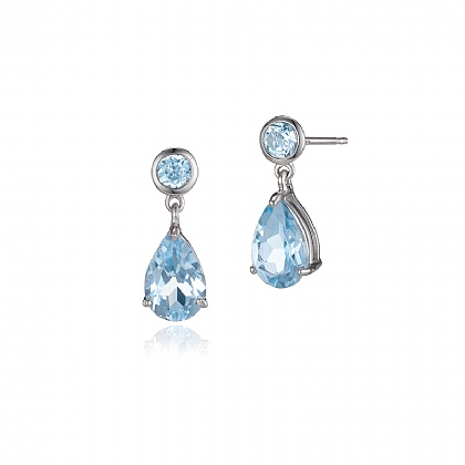 Glacial Glow Topaz Earrings