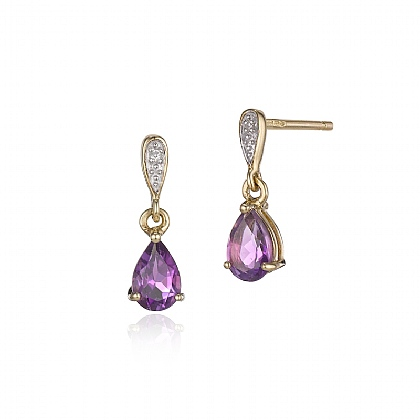 Amethyst Heavenly Drop Earrings