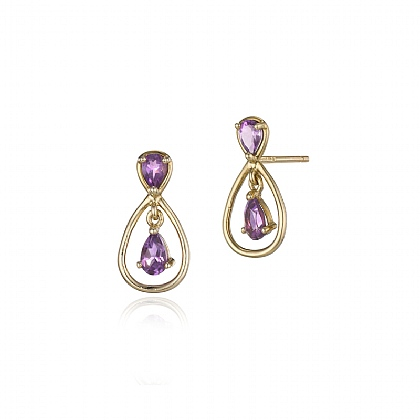 Dusky Skies Amethyst Earrings