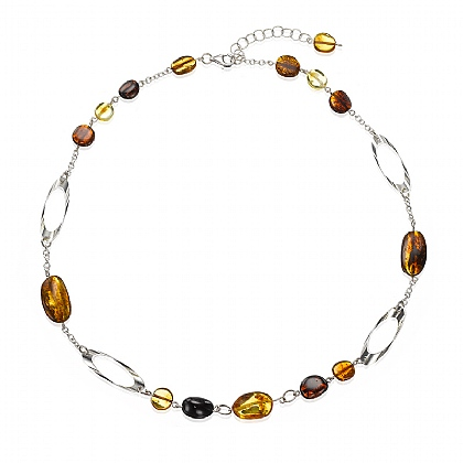 Forest Echoes Amber Necklace