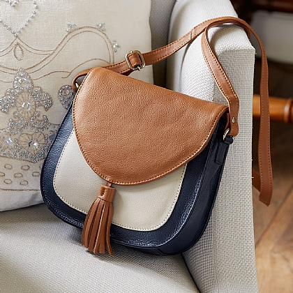 Rambling Roads Leather Bag
