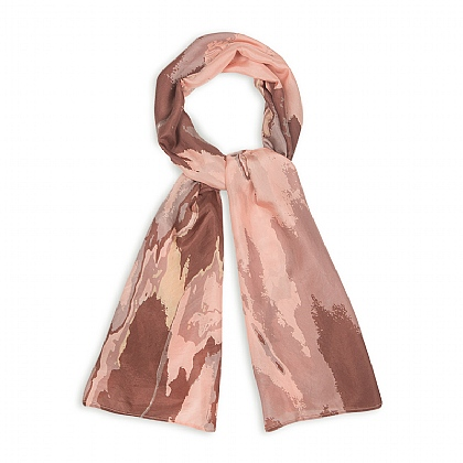 Marbled Rose Silk Scarf