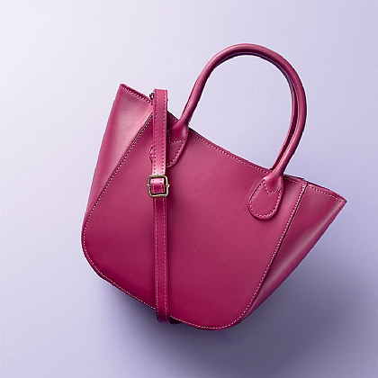 Raspberry Newbury Leather Bag