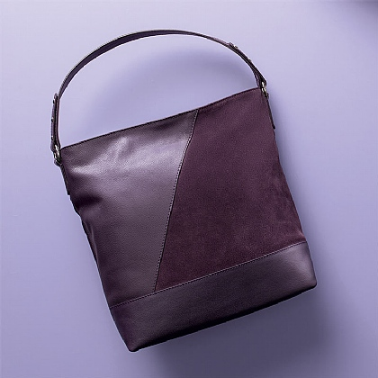Blackcurrant Leather Bag