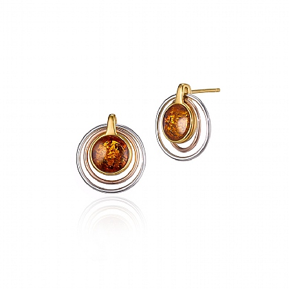 Harvest Moon Amber Earrings