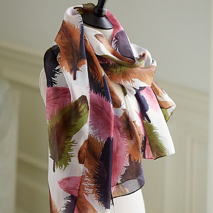 All A Flutter Silk Scarf