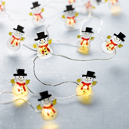 Frosty Snowmen Light String