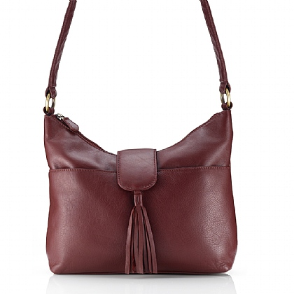 Mellow Merlot Leather Bag