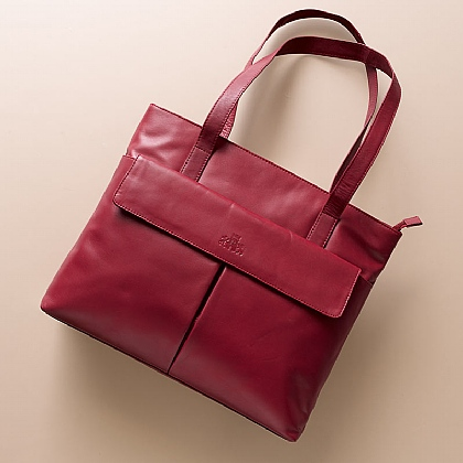 Rouge Rose Leather Bag