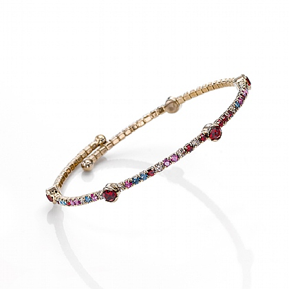 Ruby Crystal Kaleidoscope Bangle