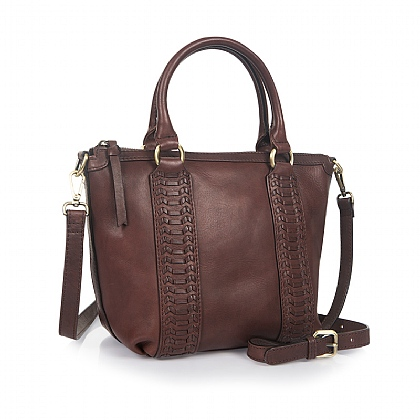 Nutmeg Nuances Leather Bag