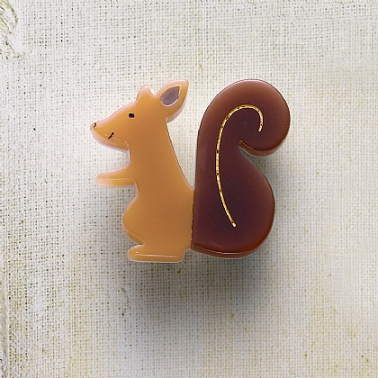 Bushy Tailed Brooch