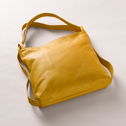 Pleasingly Pumpkin Leather Bag