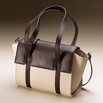 Cocoa Caress Leather Bag