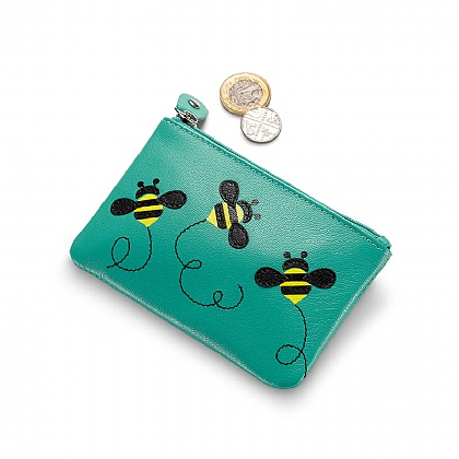 Bees Abound Leather Purse